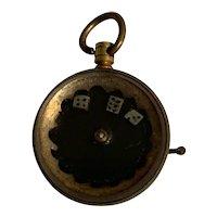 Vintage Gambling Spinning Roulette Wheel charm
