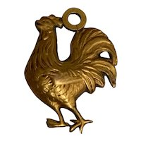 Antique gold fill Rooster charm