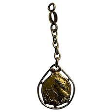 Antique French Art Nouveau Woman FIX gold fill pendant