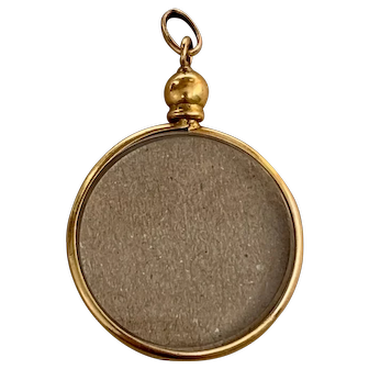 French Antique 18 K gold Double Sided Locket Pendant adorable