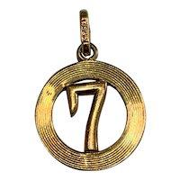 Vintage 14 K gold  good luck 7 charm