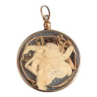 French Antique 18 K gold Double Sided Locket Pendant circa 1900