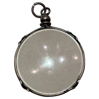 Antique French silver double sided locket