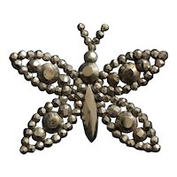 Antique Cut Steel large  Butterfly