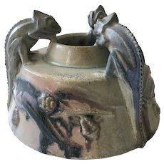C Gréber Chameleons Vase, ca 1905