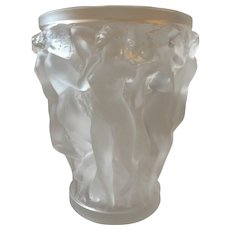 Lalique Bacchantes Vase, Large.  Condition Issue