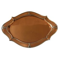 Gorham Co. Copper and Silver Tray from Spaulding & Co. Chicago 1903