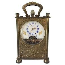 Swiss Circle Watch Corp. Hebdomas 8 Day Miniature Carriage Clock
