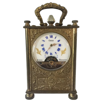 Swiss Circle Watch Corp. Hebdomas 8 Day Miniature Carriage Clock