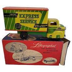 Vintage Wyandotte Lithographed Express Delivery Truck with Original Box