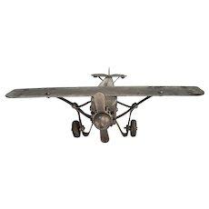 Vintage Spirit of St. Louis pressed Steel Toy Airplane