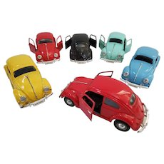 1955 Superior VW Beetle set of 6 in Display Box