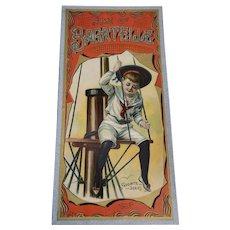 Rare 1898 McLoughlin Bros. Game of Bagatelle Board Game, ca 1898