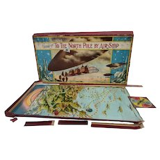 Vintage 1920's Game of To the North Pole by Air-Ship by Milton Bradley