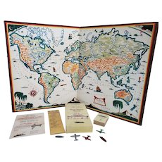 1933 Hendrik Van Loon's Wide World Board Game