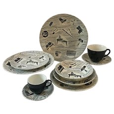Vintage Ridgway Potteries Homemaker Mid-Century 63 piece set, CA 1950's-1960's