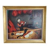 Mid Century Modernist Oil painting by Mervin Jules