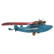 Vintage 1930's Marx pressed steel toy airplane