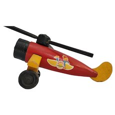 "Vintage 1940""s Woodette toy Helicopter"