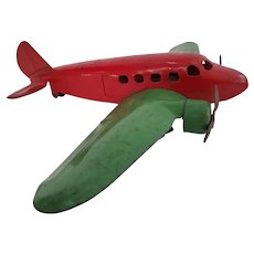 Vintage  1930's Wyandotte twin engine transport toy airplane