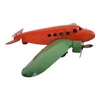 Vintage  1930's Wyandotte twin engine transport toy airplane