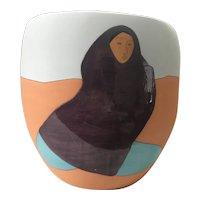 "Limited Edition ""Desert Ladies"" by R C Gorman hand cast ceramic vase"