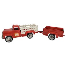 Vintage Hubley Stake Truck with Trailer