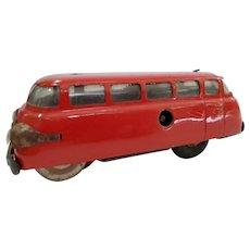 Vintage 1950's Schuco #3044 tin toy bus