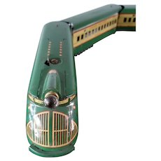 Vintage 1930's Marx M-10000 5 car Electric Train  Set Green w/Yellow