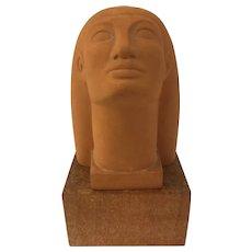 Rare Elah H Hays Sculpture, Art Deco Head   ca 1939