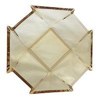 Vintage Amber Geometric Bowl by Fostoria Glass, ca 1929-1938