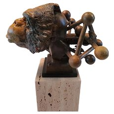 DNA Monkey Bronze Cast Sculpture by Theodore Gall