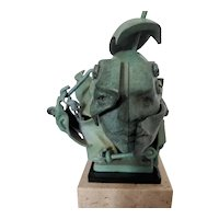 """""""Facets"""" Bronze Cast Sculpture by Theodore Gall"""