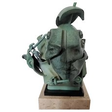 """Facets"" Bronze Cast Sculpture by Theodore Gall"