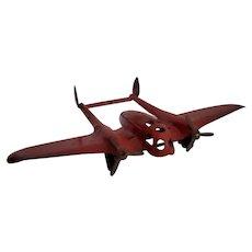 1930's Vintage Wyandotte P38 Crusader toy Airplane