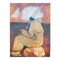 "Original Acrylic Painting by Michael Brangoccio ""Post Modern II"