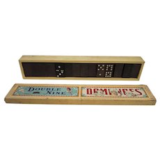 Vintage Double Nine Dominoes