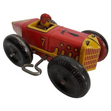 Vintage original Marx #Wind-up Tin Racer