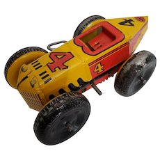 Vintage #4 Marx Racer without driver