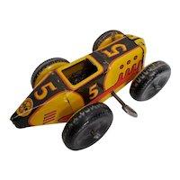 Vintage #5 Marx Wind-Up Racer. Driver missing