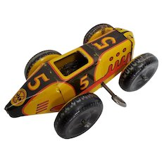 Vintage #5 Marx Wind-Up Racer. Driver missing