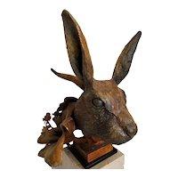 """Rabbit"" Bronze Cast Sculpture by Theodore Gall"
