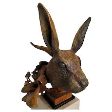 """Rabbit"" Bronze Cast Sculpture by Theodore Gall"