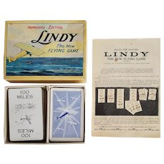 "Vintage 1927 ""Lindy the new Flying Game by Parker Brothers"