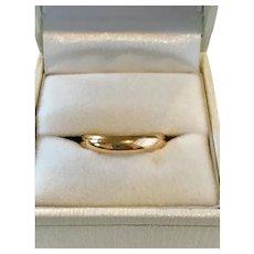 Estate 14K Gold Wedding Band Size 7 1/2