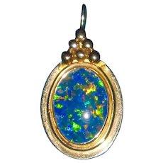 14K Gold Opal Triplet Pendant