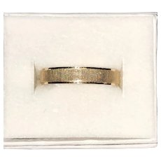 18K Yellow Gold Wedding Band Ribbed Design  Size 9 1/4