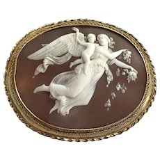 Large Cameo Brooch Day: Aurora with the Genius of Light