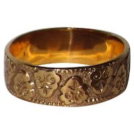 Victorian Wedding Band Ornate