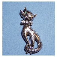 Vintage Adorable Winking Cat Pin